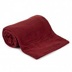 Jahu Fleecová deka UNI vínová, 150 x 200 cm